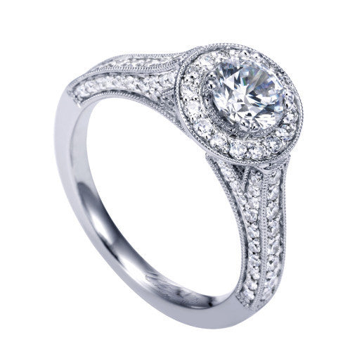 A Cubic Zirconia CZ Love Quilt Ring