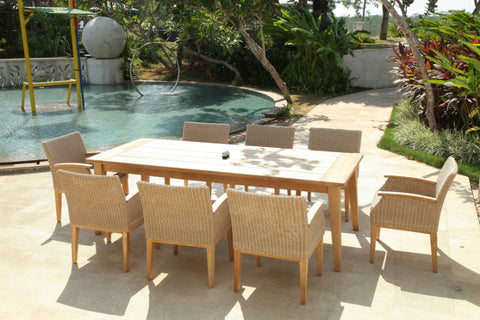 Jimbaran 8 Seat Outdoor Dining Setting