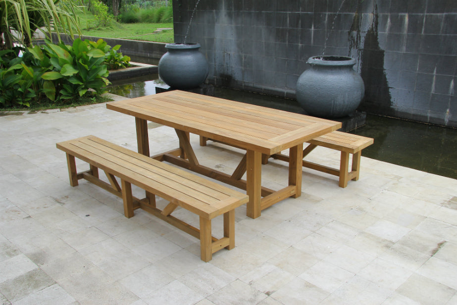 Tembok 12 Seat Outdoor Dining Setting