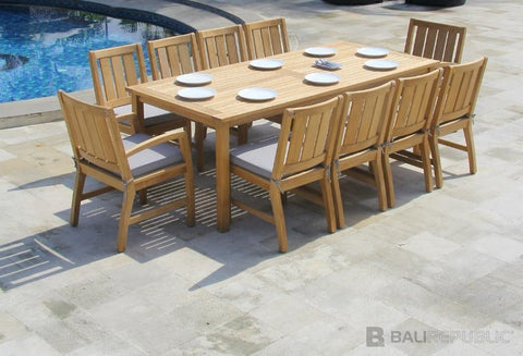outdoor dining sets for 8. Outdoor Dining Settings - KUBU 8 Seat Setting Sets For