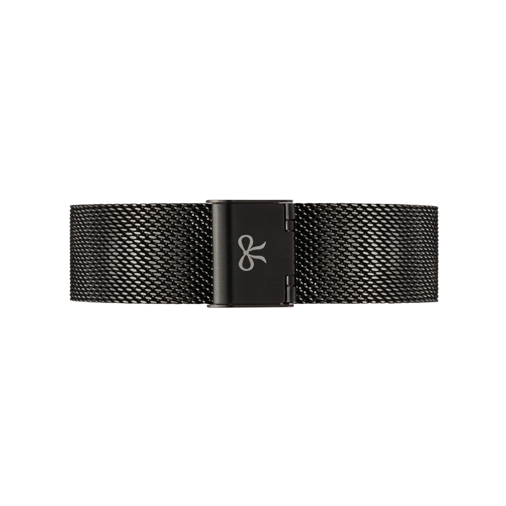 Black Mesh Watch Strap | Bow London | Mono X Black