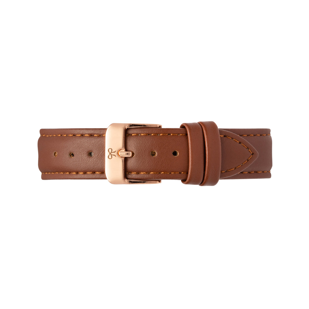 Rose Gold and Brown Leather Watch Strap | Bow London | Mono Chelsea X Rose