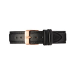 Rose Gold and Black Leather Watch Strap | Bow London | Mayfair X Rose