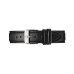 Silver and Black Leather Watch Strap | Bow London | Mayfair X Silver