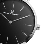 Silver and Black Face Watch | Bow London