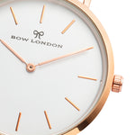 Rose Gold and White Watch Face | Bow London