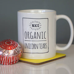 100% Organic Unicorn Tears Ceramic Mug