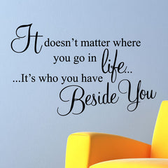 Beside You Wall Stickers Quotes