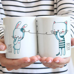 Personalised Best Friends Ceramic Mugs