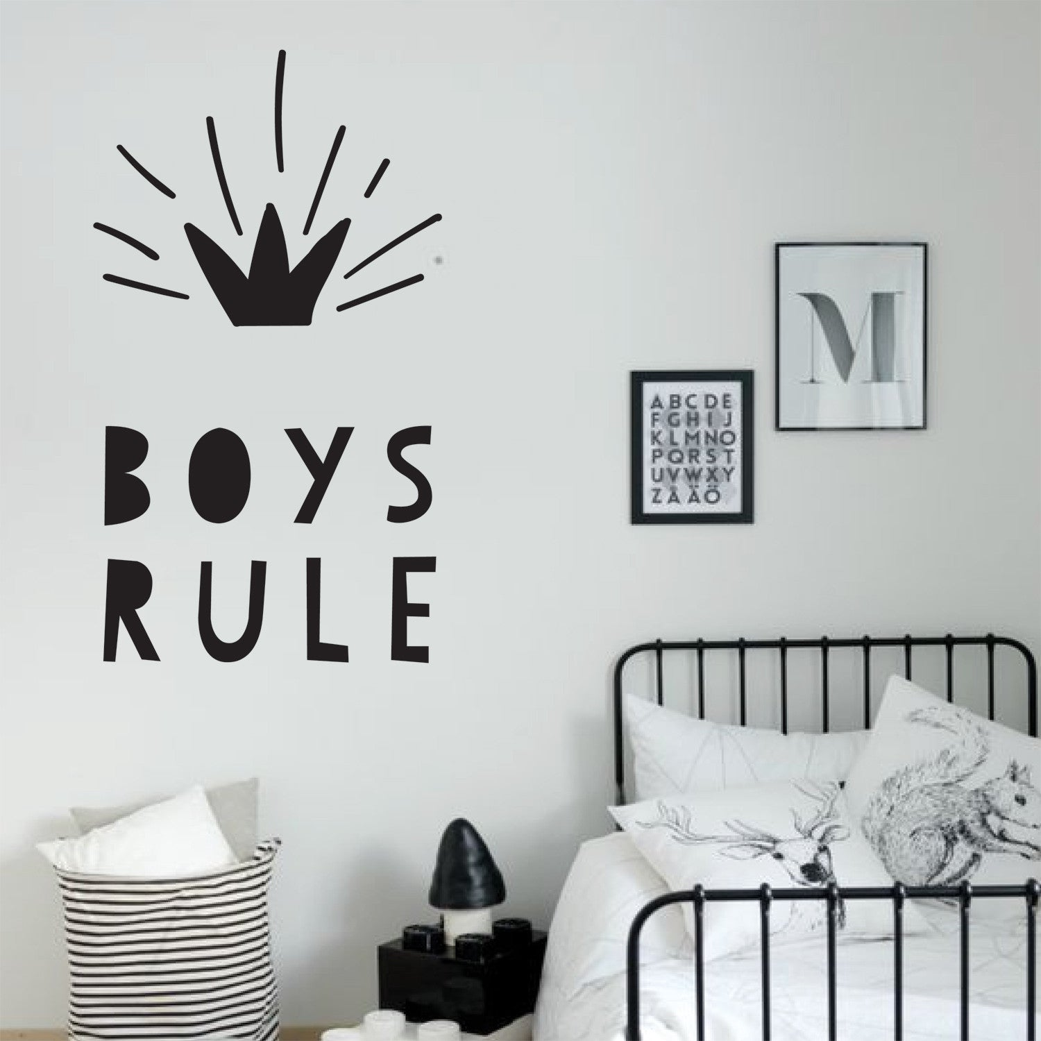Boys Rule Wall Stickers
