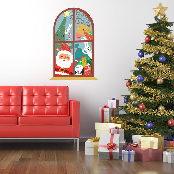Christmas Window Wall Sticker