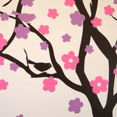 Summer Blossom Tree Wall Stickers