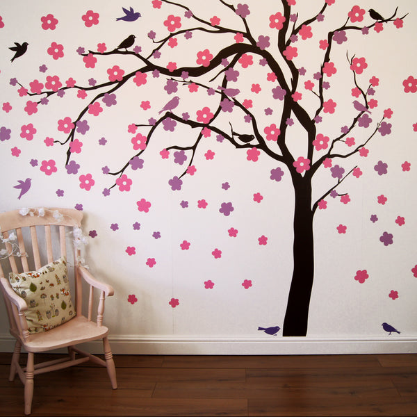 Summer Blossom Tree Wall Sticker