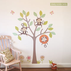 Cheeky Monkey Swing Tree Wall Stickers