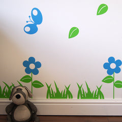 Tree With Birds And Butterflies Wall Sticker