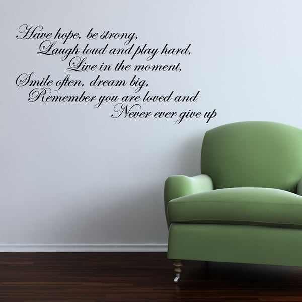 Have Hope Script Wall Sticker