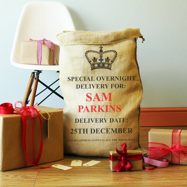 Personalised Special Delivery Christmas Present Sack