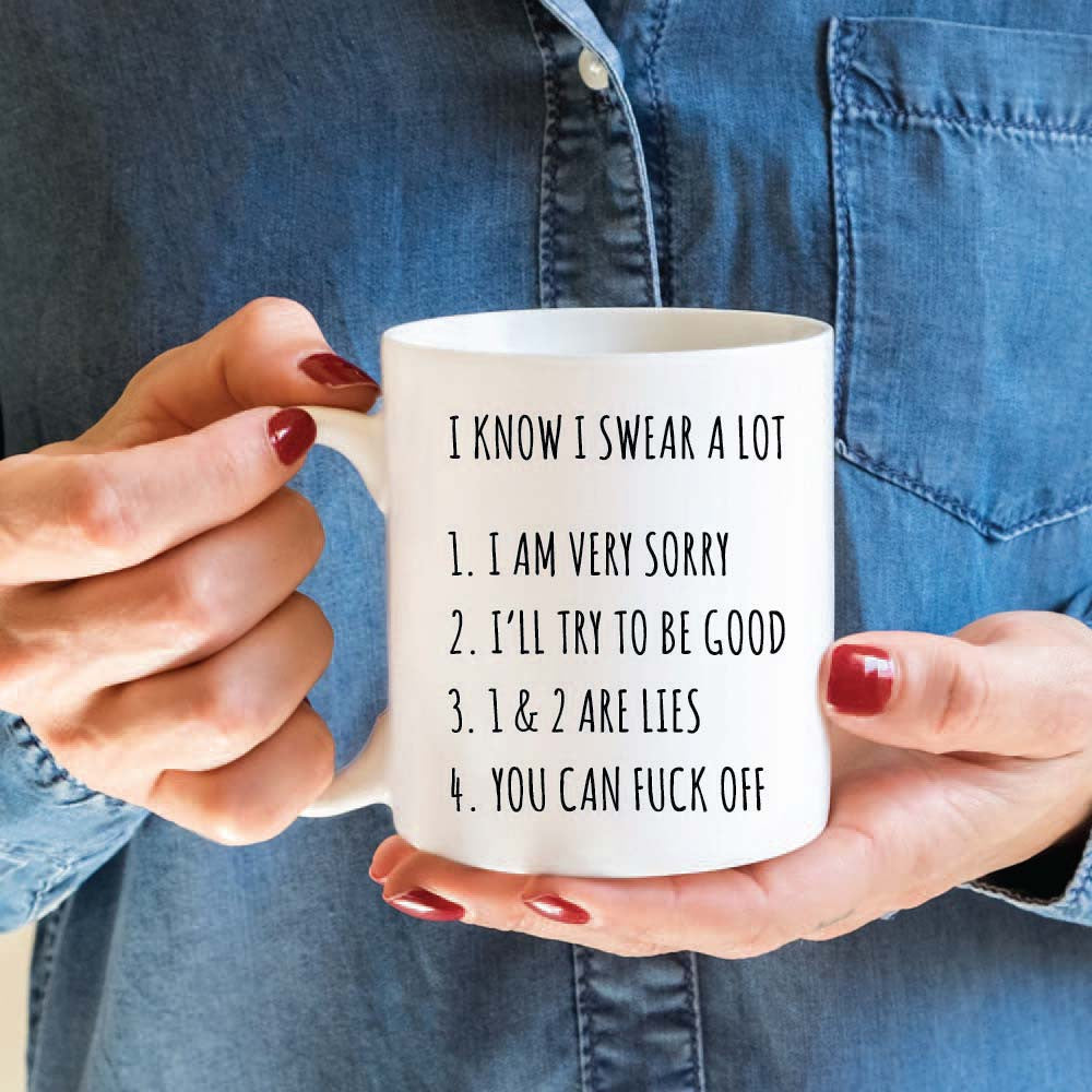 I Swear A lot Personalised Printed Ceramic Mug