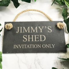 Personalised Engraved Father's day Slate Sign