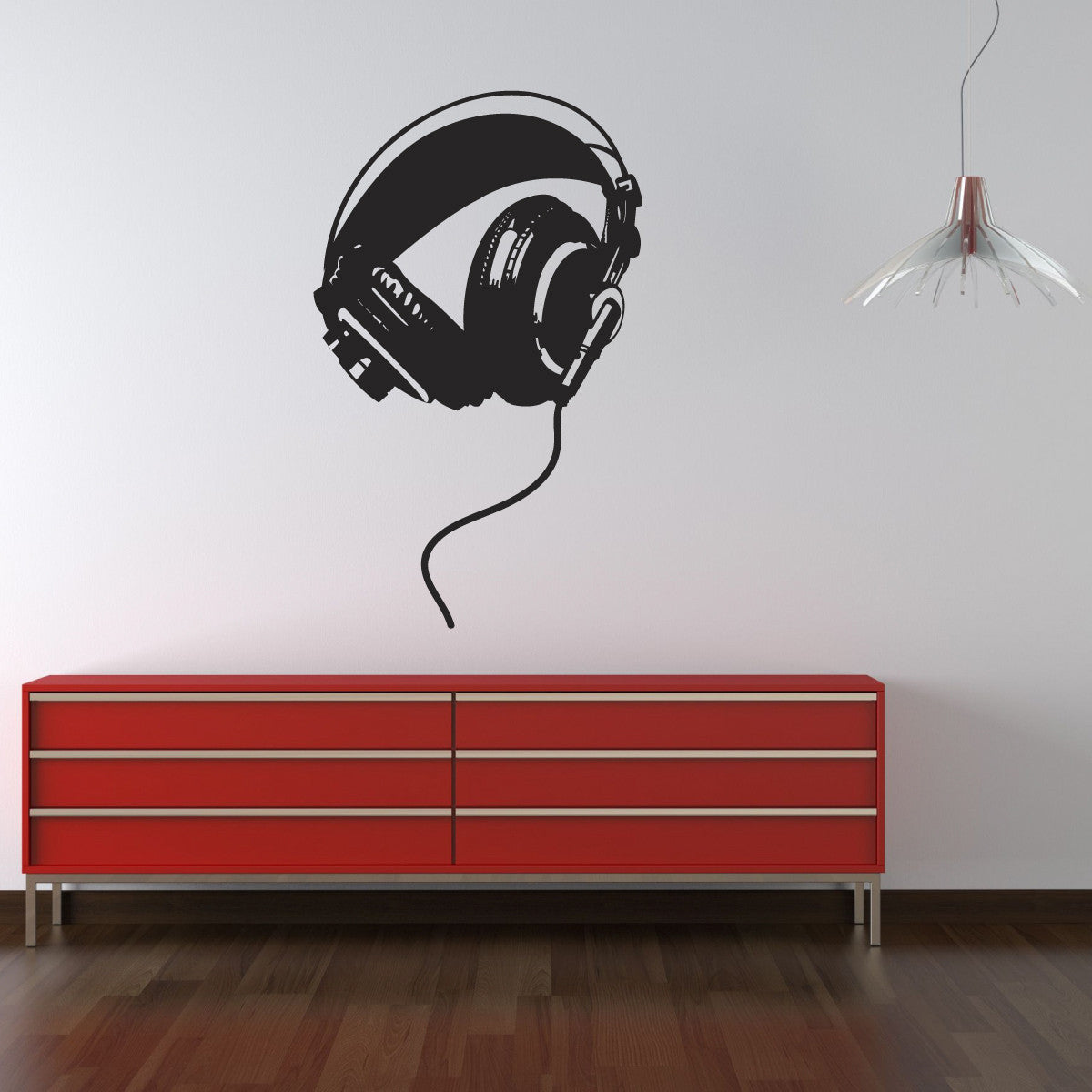 Headphones Wall Sticker