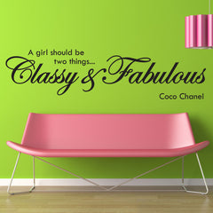 Classy And Fabulous Wall Stickers