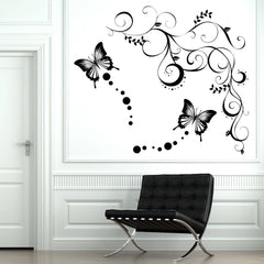 Butterfly Vine Wall Stickers