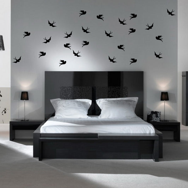 Flying Swallows Wall Stickers