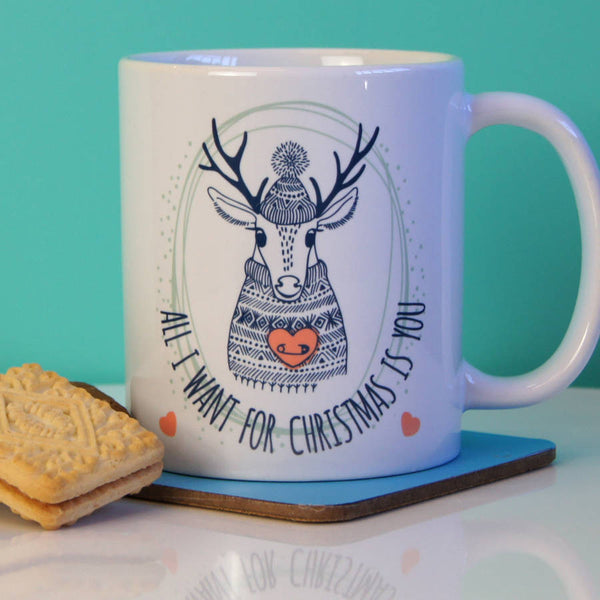 All I Want For Christmas Is You Ceramic Mug