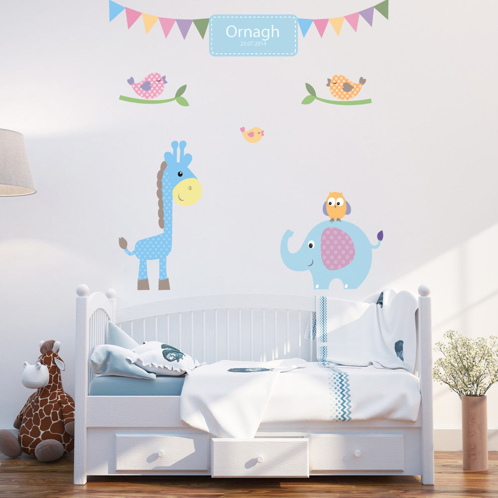 Personalised Baby Boy Wall Stickers & Personalised Baby Boy Wall Stickers | Parkins Interiors
