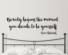 Beauty Begins Wall Sticker Quote