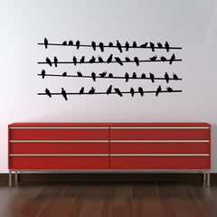 Bird on Powerline Wall Stickers