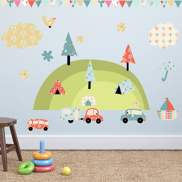 Camping Holiday Wall Stickers