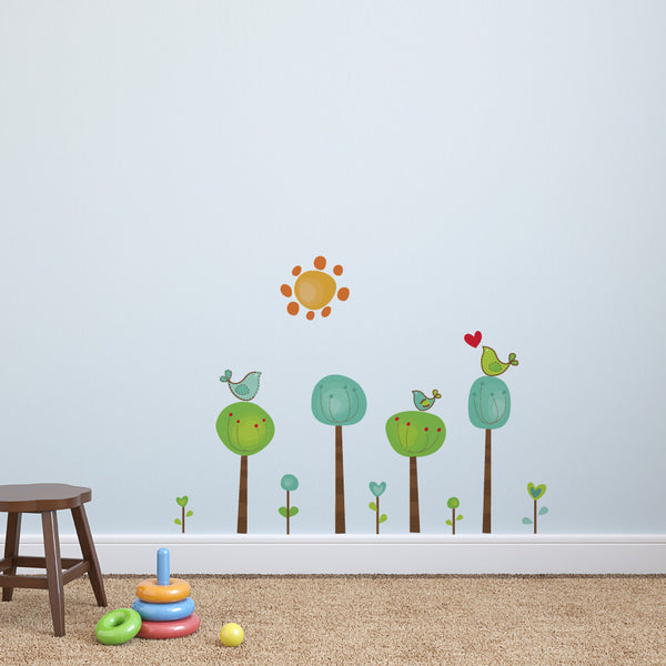 Childrens Bird Tree Wall Stickers