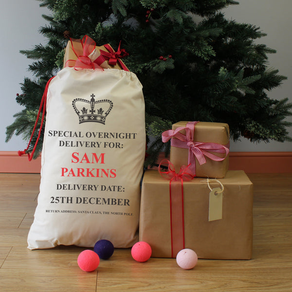 Personalised Christmas Present Delivery Gift Sack