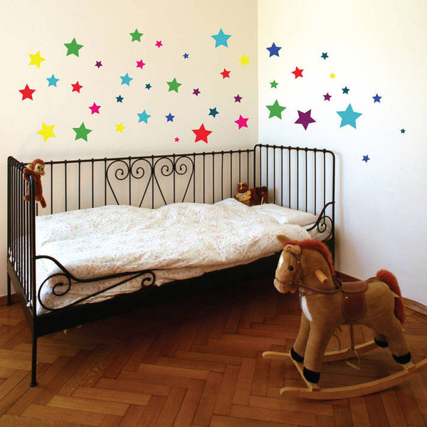 Colourful Stars Wall Stickers