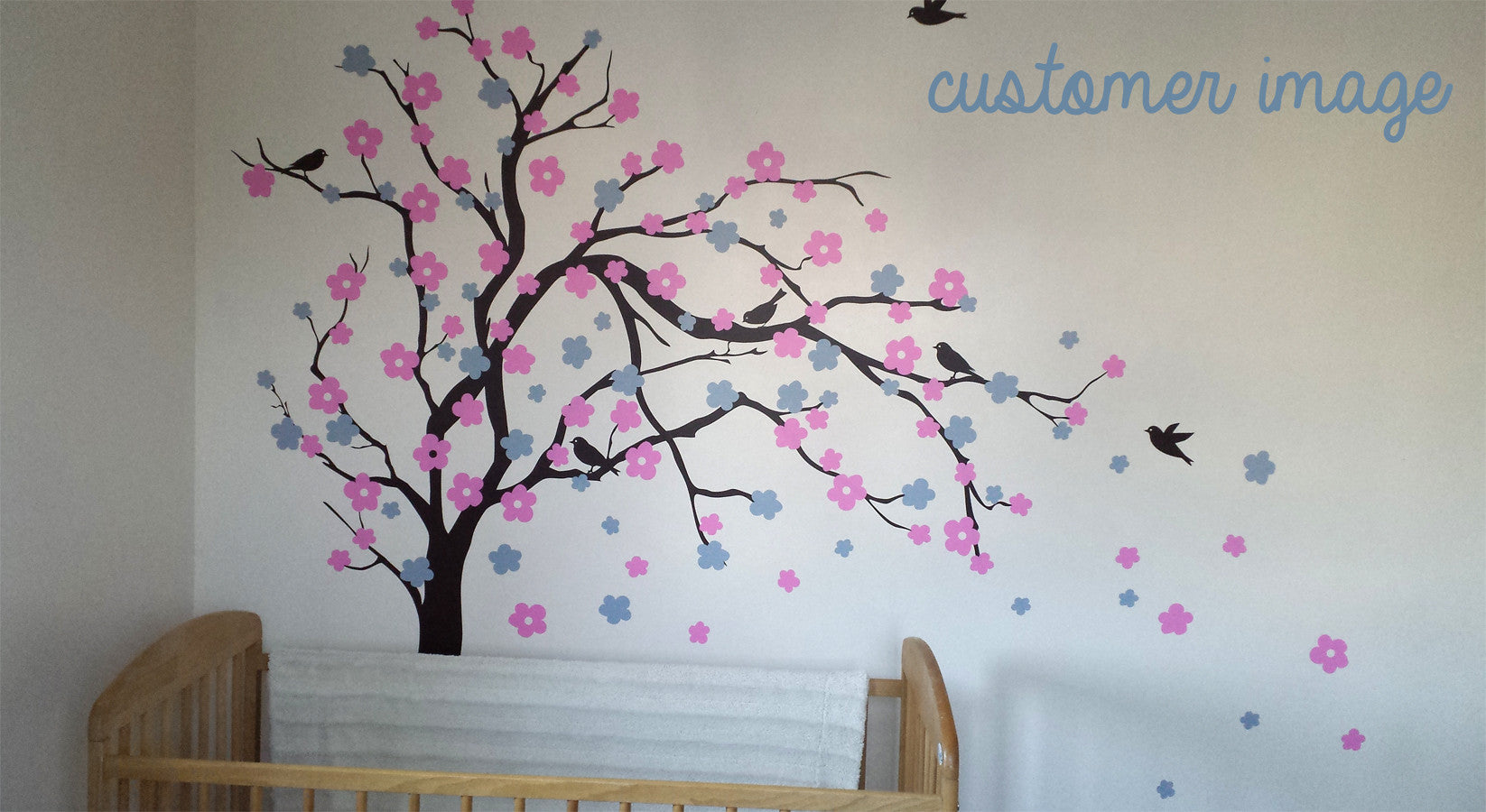 Floral blossom tree wall sticker parkins interiors floral blossom tree wall sticker amipublicfo Image collections