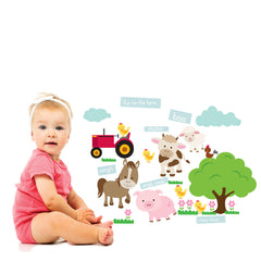 Fun on the Farm Wall Stickers