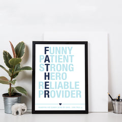 Personalised Father Print