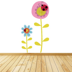 Personalised Flower Height Chart Wall Sticker