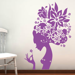 Flower Girl Wall Stickers