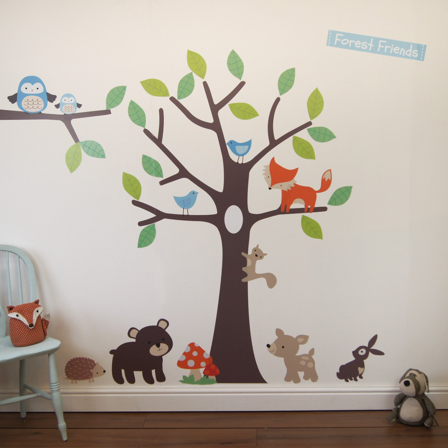 Forest Friends Tree Wall Stickers Parkins Interiors