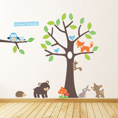 Forest Friends Tree Wall Stickers