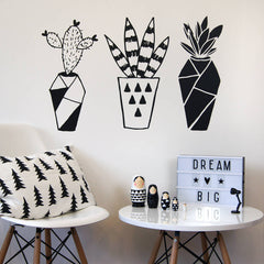 Geometric Cactus Wall Stickers