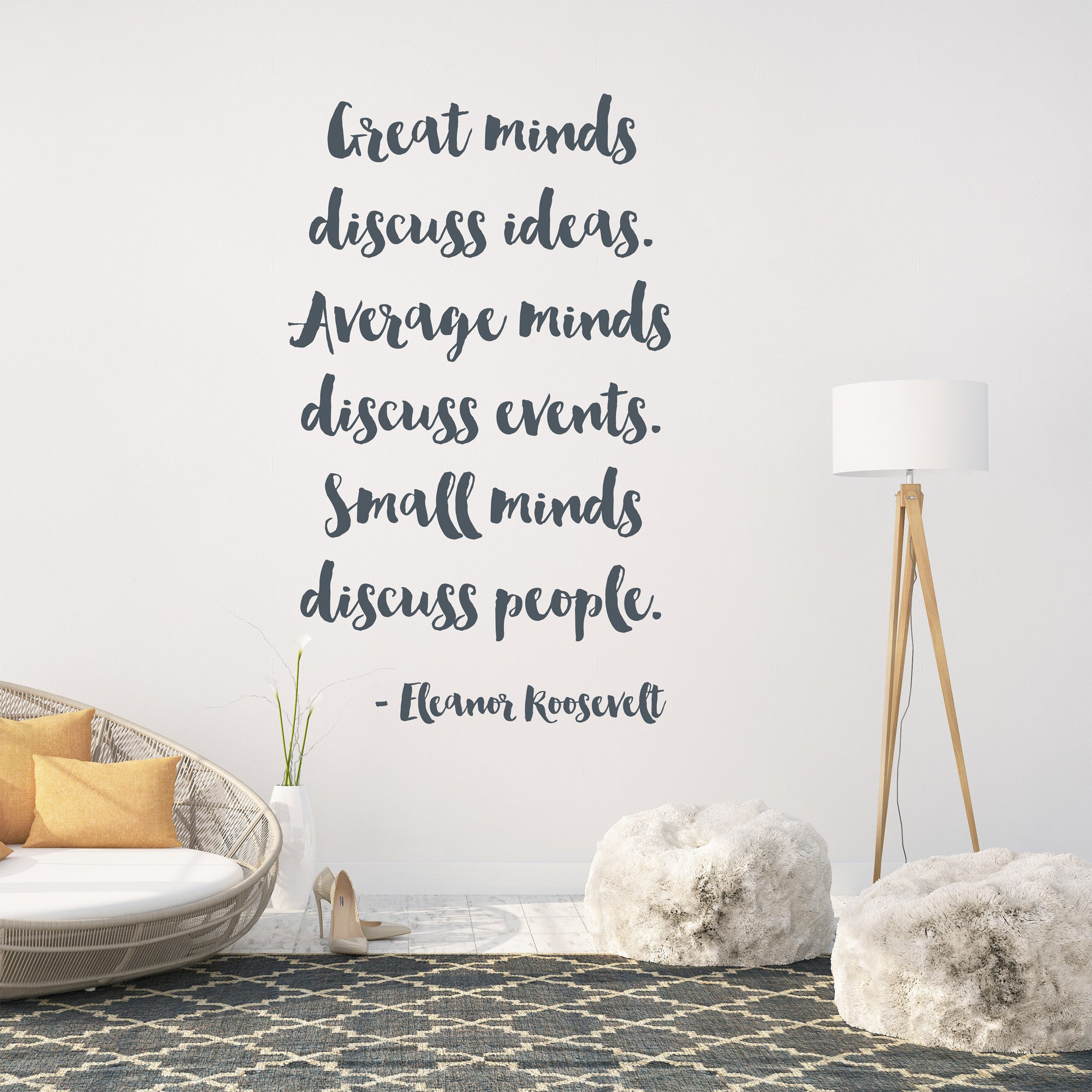 Great Minds Discuss Wall Sticker Quote