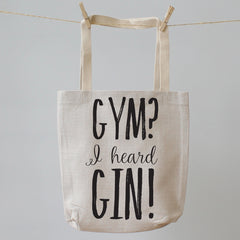 Gym I heard Gin Tote Shopping Bag
