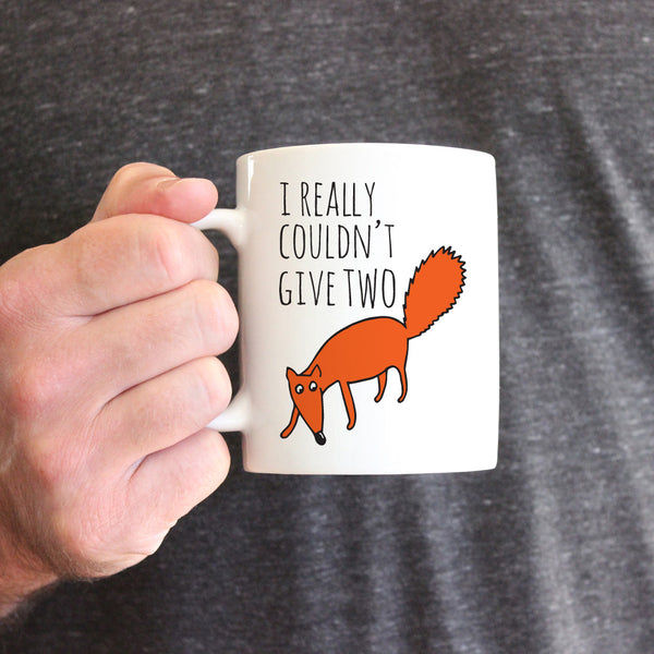 I Really Couldn't Give Two Fox Ceramic Mug