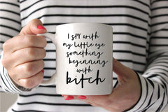 I Spy Bitch Personalised Printed Ceramic Mug