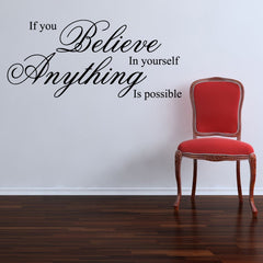 If You Believe Quote Wall Sticker