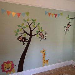 Jungle Friends Tree Wall Stickers