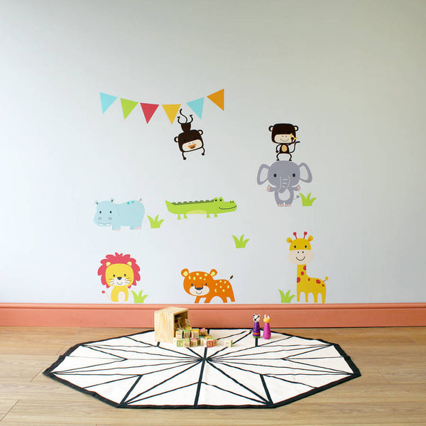 Jungle Animal Childrens Wall Stickers